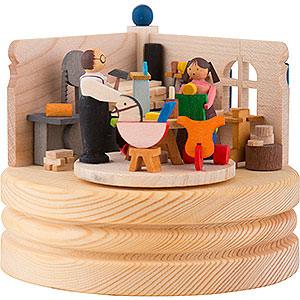 Spieldosen Diverse Motive Spieldose Spielzeugmacherwerkstatt - 8,5 cm