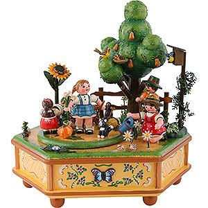 Spieldosen Jahreszeiten Spieldose Unser kleiner Garten - 20 cm