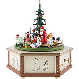 Spieldosen Weihnachten Spieldose Weihnachtsbescherung - 24 cm