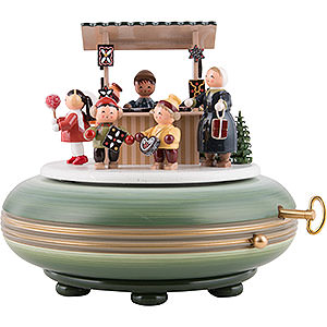 Spieldosen Weihnachten Spieldose Weihnachtsmarkt - 16 cm