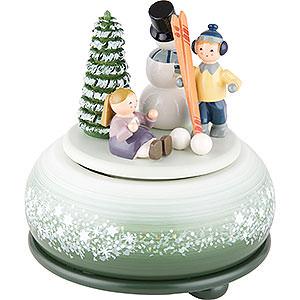 Spieldosen Jahreszeiten Spieldose Winterfreuden Ski - 14 cm