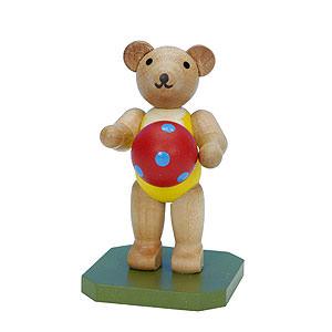 Kleine Figuren & Miniaturen Tiere Bären Spielzeugbär mit Ball - 6,5 cm