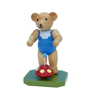 Kleine Figuren & Miniaturen Tiere Bären Spielzeugbär mit Brummkreisel - 6,5 cm