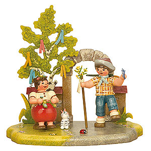Small Figures & Ornaments Hubrig Four Seasons Spring Season - 13x12 cm / 5,2x4,7 inch