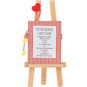 Kleine Figuren & Miniaturen Flade Flachshaarkinder Staffelei mit Rezept - 6,5 cm
