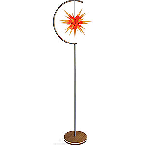 Advent Stars and Moravian Christmas Stars Herrnhuter Product Finder Star Lamp - Indoor use with I6 Yellow with Red Core - 236 cm / 93 inch