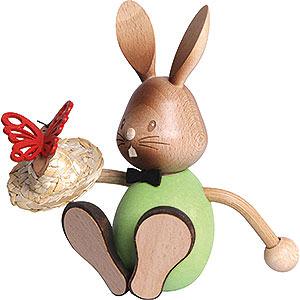 Kleine Figuren & Miniaturen Osterartikel Stupsi Hase mit Schmetterling - 12 cm