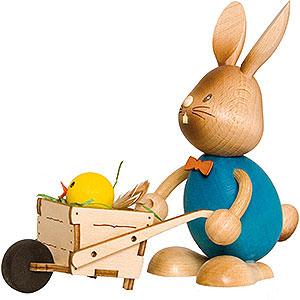 Kleine Figuren & Miniaturen Osterartikel Stupsi Hase mit Schubkarre - 12 cm