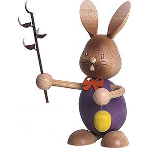 Kleine Figuren & Miniaturen Osterartikel Stupsi Hase mit Weidenkätzchen - 12 cm