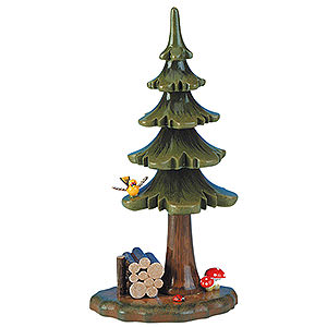 Small Figures & Ornaments Hubrig Flower Kids Summer Tree with Stack of Wood - 16 cm / 6 inch