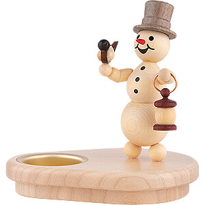 World of Light Candle Holder Misc. Candle Holders Tea Light Holder - Snowman with Lantern - 12 cm / 4.7 inch