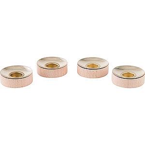 Weihnachtspyramiden Zubehör & Kerzen Teelichteinsätze für Kerzen 1,4 cm - 4er Set