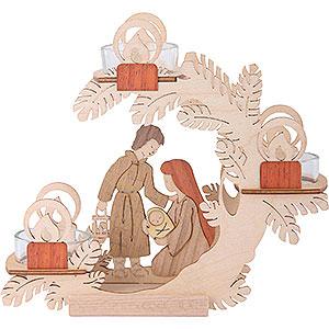 Lichterwelt Kerzenhalter Christi Geburt Teelichtkranz Christi Geburt - 15 cm