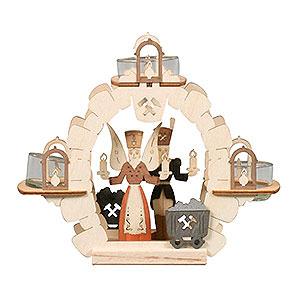 Lichterwelt Kerzenhalter Sonstige Teelichtkranz Engel/Bergmann - 15 cm
