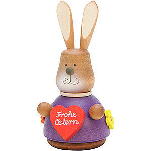 Small Figures & Ornaments Animals Rabbits Teeter Bunny with Heart - 9,8 cm / 3.9 inch