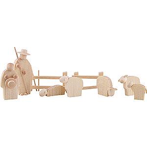 Small Figures & Ornaments Günter Reichel Nativity The Shepherds - 8 cm / 3.1 inch
