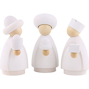 Small Figures & Ornaments Nativity Scenes The Three Wise Men - Modern White/Natural - 8,5x3,5x8 cm / 3.3x1.4x3.1 inch