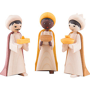 Small Figures & Ornaments ULMIK Nativity stained The Three Wise Men, Stained - 7 cm / 2.8 inch
