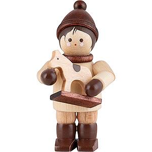 Kleine Figuren & Miniaturen Thiel-Figuren Thiel-Figur Junge mit Pferdchen - natur - 4,6 cm