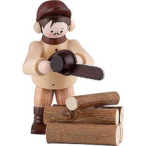 Kleine Figuren & Miniaturen Thiel-Figuren Thiel-Figur Kettensäger - natur - 2-teilig - 6 cm