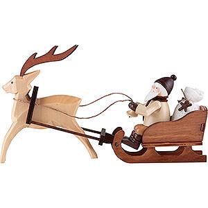 Kleine Figuren & Miniaturen Thiel-Figuren Thiel-Figur Nikolaus im Rentierschlitten - natur - 8,5 cm