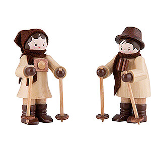 Kleine Figuren & Miniaturen Thiel-Figuren Thiel-Figur Nordic-Walker-Paar - natur - 6 cm