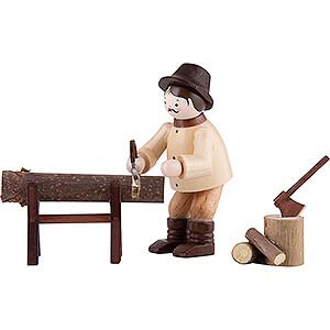 Kleine Figuren & Miniaturen Thiel-Figuren Thiel-Figur Waldarbeiter beim Sägen - natur - 3-teilig - 6 cm