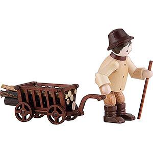 Kleine Figuren & Miniaturen Thiel-Figuren Thiel-Figur Waldarbeiter mit Wagen - natur - 6,5 cm