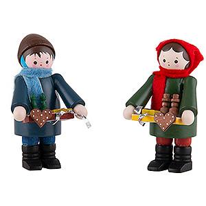 Kleine Figuren & Miniaturen Thiel-Figuren Thiel-Figuren Striezelkinder farbig - 2-teilig - 6 cm