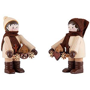 Kleine Figuren & Miniaturen Thiel-Figuren Thiel-Figuren Striezelkinder - natur - 2-teilig - 6 cm