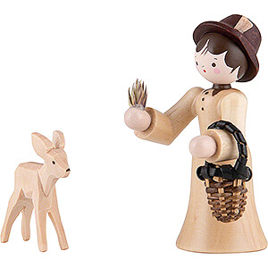 Small Figures & Ornaments Thiel Figurines Thiel Figurine - Forester Lady with Deer - natural - 6 cm / 2.4 inch