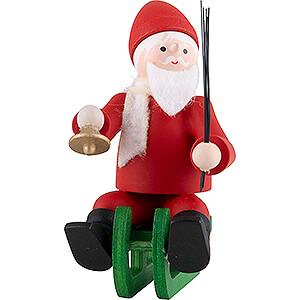 Small Figures & Ornaments Thiel Figurines Thiel Figurine - Santa Claus on Sledge - coloured - 6 cm / 2.4 inch