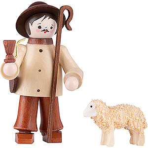 Small Figures & Ornaments Animals Sheep Thiel Figurine - Shepherd with Sheep - natural - 6 cm / 2.4 inch