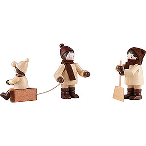 Small Figures & Ornaments Thiel Figurines Thiel Figurines - Snow clearing - natural - Set of Three - 5,5 cm / 2.2 inch