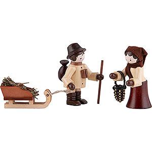 Small Figures & Ornaments Thiel Figurines Thiel Figurines - Wildlife Feeding - natural - Set of Three - 5,5 cm / 2.2 inch