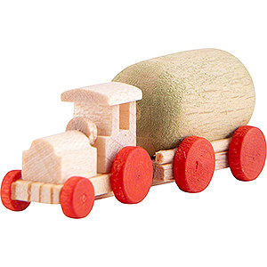 Small Figures & Ornaments Flade Flax Haired Children Tractor with Trailer - 2 cm / 0.8 inch