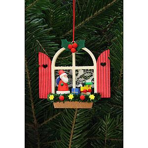 Tree ornaments Santa Claus Tree Ornament - Advent Window with Niko - 7,6x7,0 cm / 3x3 inch