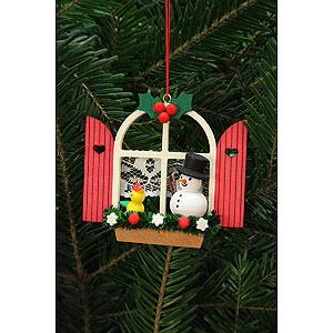Tree ornaments Snowmen Tree Ornament - Advent Window with Snowman - 7,6x7,0 cm / 3x3 inch