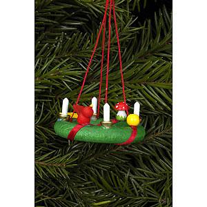 Tree ornaments Misc. Tree Ornaments Tree Ornament - Advent Wreath - 4,3x1,9 cm / 1.7x0.7 inch