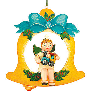 Tree ornaments Angel Ornaments Floating Angels Tree Ornament - Angel-Bell-Train 10 cm / 4 inch