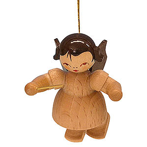 Tree ornaments Angel Ornaments Floating Angels - natural Tree Ornament - Angel Conductor - Natural Colors - Floating - 5,5 cm / 2,1 inch