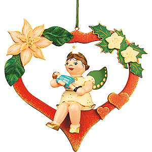 Tree ornaments Angel Ornaments Floating Angels Tree Ornament - Angel-Heart-Doll 10 cm / 4 inch