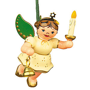 Tree ornaments Angel Ornaments Floating Angels Tree Ornament - Angel-Light-Bell 6 cm / 2,5 inch