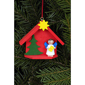 Tree ornaments Angel Ornaments Misc. Angels Tree Ornament - Angel in House - 6,0x5,2 cm / 2.4x2.0 inch