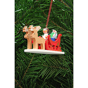 Tree ornaments Toy Design Tree Ornament - Angel in Reindeer Sleigh - 9,7 cm / 3.8 inch