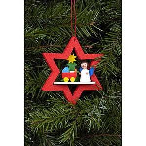 Tree ornaments Angel Ornaments Misc. Angels Tree Ornament - Angel in Star with Dolls Pram - 6,8x7,8 cm / 3x3 I
