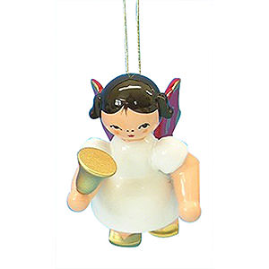 Angels Angel Ornaments Floating Angels - red wings Tree Ornament - Angel with Bell - Red Wings - Floating - 6 cm / 2,3 inch