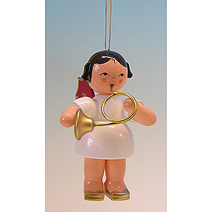 Tree ornaments All tree ornaments Tree Ornament - Angel with Bugle - Red Wings - 9,5 cm / 3.7 inch