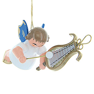 Tree ornaments Angel Ornaments Floating Angels - blue wings Tree Ornament - Angel with Chime - Blue Wings - Floating - 5,5 cm / 2.2 inch