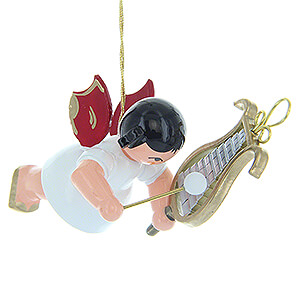 Angels Angel Ornaments Floating Angels - red wings Tree Ornament - Angel with Chime - Red Wings - Floating - 5,5 cm / 2.2 inch
